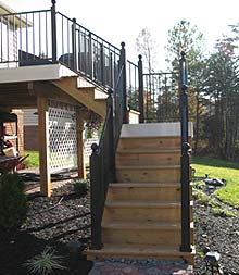 deck stairs and railing