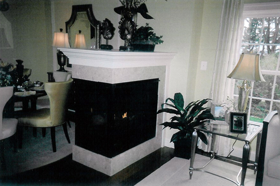 Interior fireplace by JRK Builders